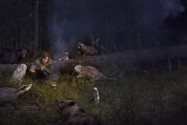 Emil Nyström fotograf Umeå uppslag lemmelkaffe skogen reklam porträtt